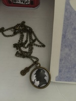 Sherlock Holmes and Doctor Who Mash Up Necklace
