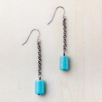 Starfish project Blue stone dangle earrings