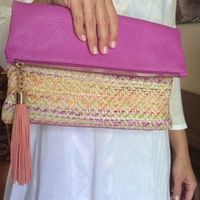 Shiraleah Woven Purple Clutch