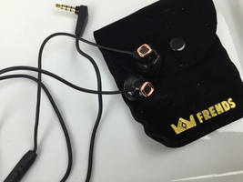 "Frends Earbuds ""The Donna"" Black w/ Rose Gold"