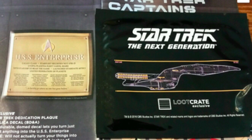 Star Trek Dedication Plaque Replica Decal
