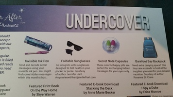 Swag from July Undercover Ever After Box