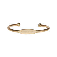 "Jook and Nona Brass Cuff ""Create"""
