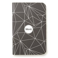 Word. Black Polygon mini notebook