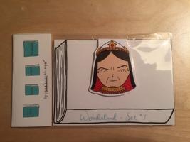Wonderland Bookmark Set #1 - Queen of Hearts