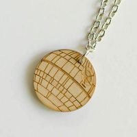 Death Star Wooden Necklace