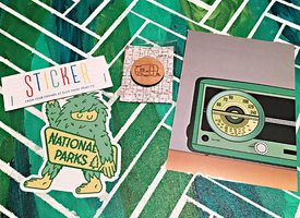Vintage Green Cuba Radio Print