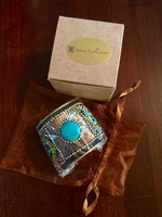 Sitara Collections Handmade Turquoise Beaded Cuff