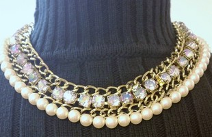 Pearl & Rhinestone Gorgeous Necklace