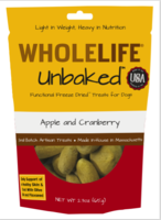 Wholelife Unbaked dog treats -  Apple and cranberry