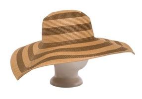 Steve Madden Natural Oversized Striped Floppy Hat