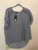 VeryJ Gingham Top