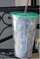 Lid cup with straw