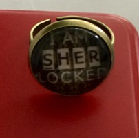 "Sherlock Inspired ""I am Sherlocked"" Adjustable Ring"