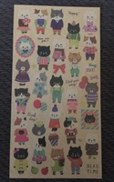 Old Fashioned Cat Stickers