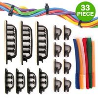 33 Piece Cable Management Set