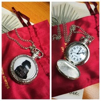 Game of Thrones Jon Snow Watchman Pocket Watch Necklace
