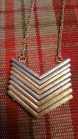 Kitsch Tri Color Chevron Necklace