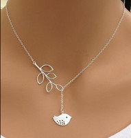 Sterling Silver Plated Birdie Necklace