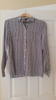 Mavi jeans brand key print button-up, size small