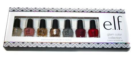 elf Glam Color Collection 9 pc Nail Polish Set