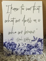 Dwell Quote 5x7 Print