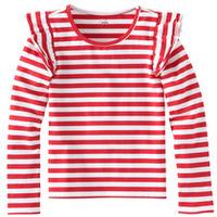 Fabkids Red Striped Shirt (Med, 6-7)