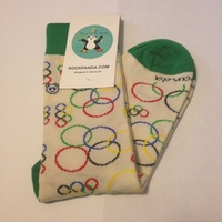 Sock Panda Olympic Rings socks