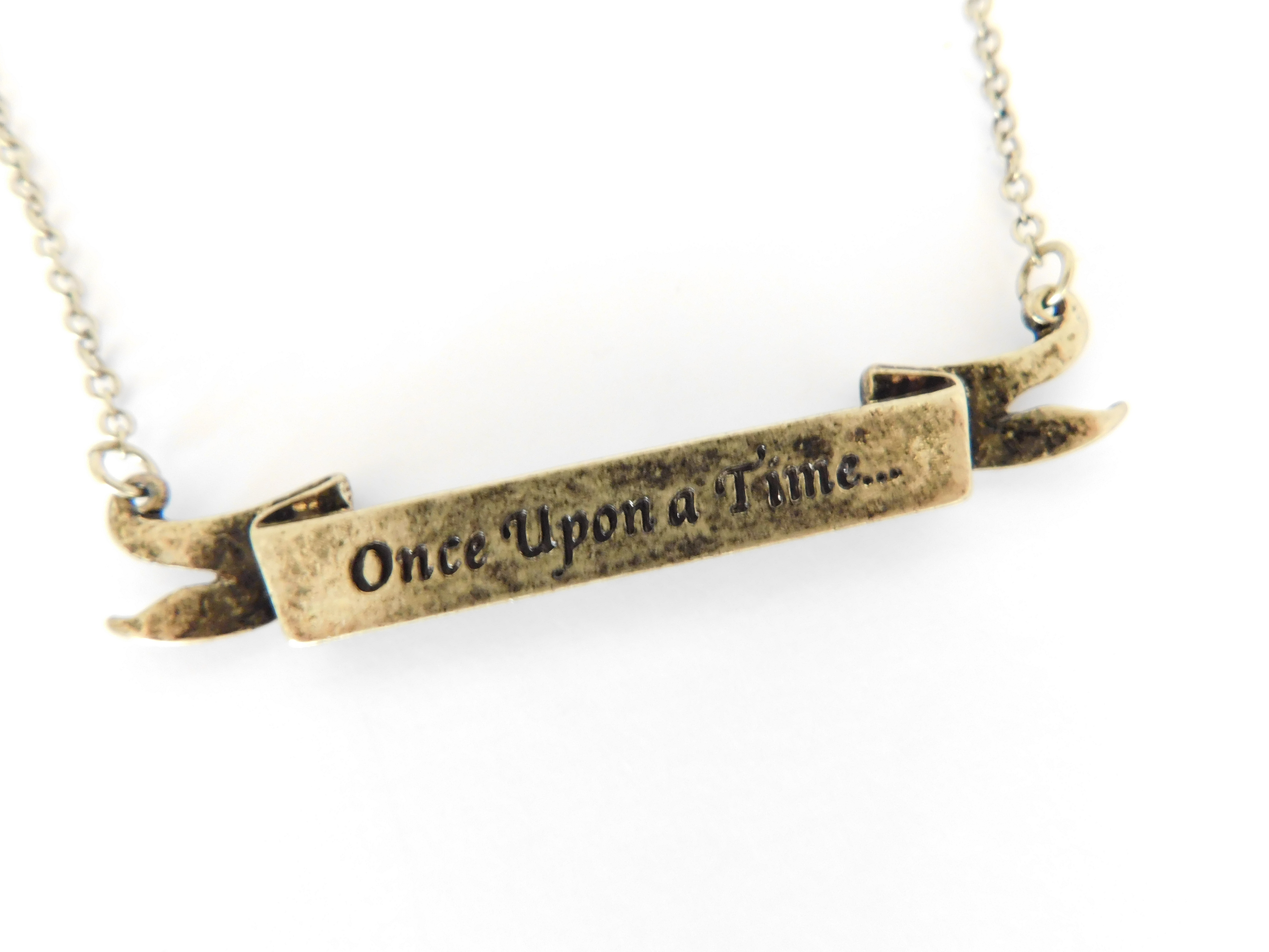 Once Upon a Time Banner Necklace