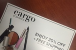 Cargo Cosmetics 20% off + free shipping