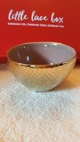 Gold decorative bath bowl