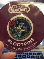 World of WarCraft Loot Crate Aug 2016 Pin