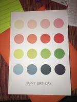 Happy Birthday card with dots