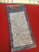 superman magnetic to do list pad