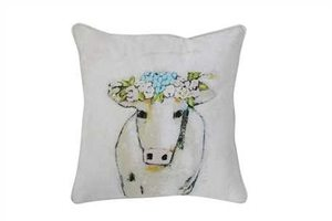 Whimsical Cow Pillow