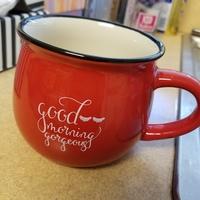 Red Good Morning Gorgeous Mug