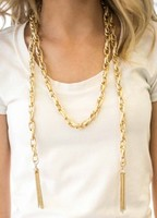 Gold Tassel Convertible Necklace