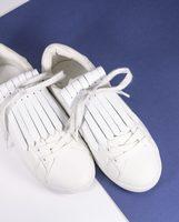Aurelie Chadaine Shoe Flaps in White