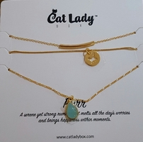 """Purr"" Gold Layered Necklace - Exclusive by CatLadyBox"
