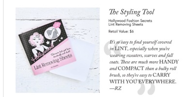 Hollywood Fashion Secrets Lint Removing Sheets