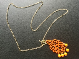 Luxe Pineapple Boho Orange Necklace