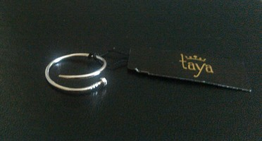 Taya Silver Nailhead Ring
