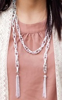Silver Tassel Convertible Necklace
