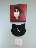 Catllady Cat Clock - Clock only