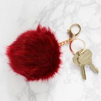 Jack & Lucy Faux Fur Pom Keychain