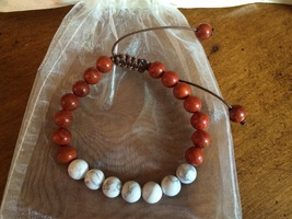 Yogi Surprise Rosewood & White Howlite Adjustable Bracelet