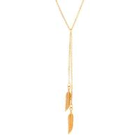 "Naomi ""Free"" 18k Gold Plated Feather Necklace"