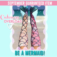 Photo print Mermaid socks one size