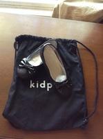 Kidpik Black Glitter Bow Flat