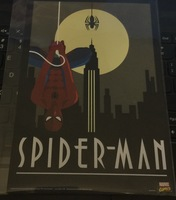 Spider-Man Art Deco Print